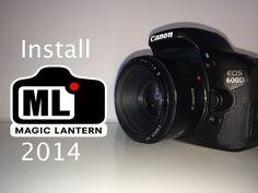 Install Magic Lantern 2014 for Canon 600d (T3i) - YouTube