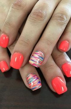 20 Cute Summer Nail Designs for 2020 - The Trend Spotter Cute Summer Nail Designs, Cute Summer Nails, Colorful Nail Designs, Nail Designs Spring, Simple Nail Designs, Spring Nails, Cute Nails, Nail Art Designs, Nails Design
