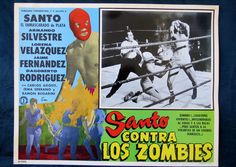 """SANTO VS LOS ZOMBIES"" LORENA VELAZQUEZ N MINT HORROR LOBBY CARD PHOTO 1961"