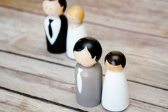 DIY Wooden Wedding Cake Toppers
