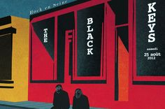 The Black Keys / illustré par Marjane Satrapi / Rock En seine