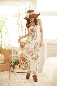 cccbd8a56b8 colorful maxi dress Bohemian Summer Dresses