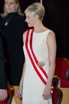 Princess Charlene of Monaco attends the National day Gala concert as part of Monaco National Day Celebrations at Grimaldi Forum