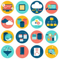 Data analysis icons | Free Vector #Freepik #freevector #business #design #technology #computer Flat Design Icons, Icon Design, Design Tech, Free Vector Images, Vector Free, What Is Data, Software, Best Icons, Free Graphics