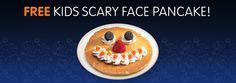IHOP: Kids Get a FREE Scary Face Pancake on Halloween! (12