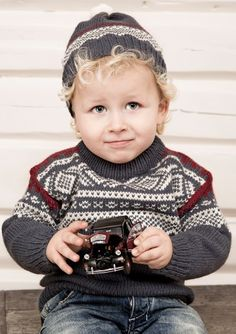this is the Marius pattern from Norway How To Start Knitting, Knitting For Kids, Crochet For Kids, Baby Knitting, Crochet Books, Knit Crochet, Fair Isle Knitting, Children In Need, Baby Sweaters