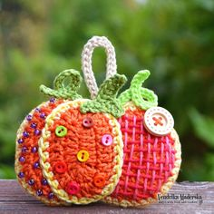 For your nice autumn time ... Make these funny and colorful pumpkin decoration. They are quick to make and they could be also great gift for your friends :-) *This is a crochet pattern and not the finished item* This pattern is written in standard American (US) terms, in English language,