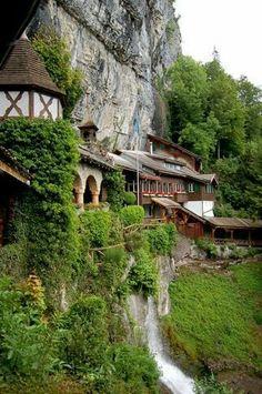 Entrance to St. Beatus Caves - Interlaken, Switzerland // Travel // Wanderlust // Switzerland Travel // World Traveler Dream Vacations, Vacation Spots, Places To Travel, Places To See, Wonderful Places, Beautiful Places, Amazing Places, Places Around The World, Around The Worlds