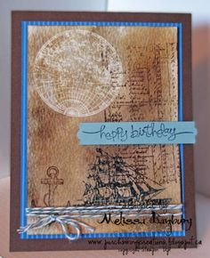 Nautical Birthday by melissabanbury - Cards and Paper Crafts at Splitcoaststampers