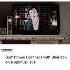 I do connect with Sherlock on a spiritual level #Sherlock - Many Happy Returns