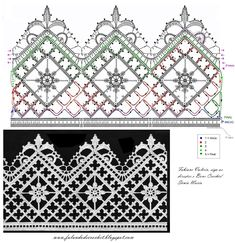 Would make a pretty valance facing downwards . Speaking of Crochet - Charts: CROCHE SQUARE BAR WITH FLOWER VINTAGE