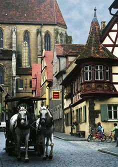 Rothenburg, along the Romantic Road in Germany.  Incredibly charming.