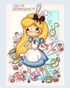 Alice in Wonderland Más imprimibles GRATIS en http://www.fiestuqueando.blogspot.com.es