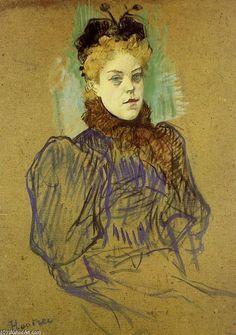 """""""月ミルトン"""", オイル バイ Henri De Toulouse-Lautrec (1864-1901, France)"""