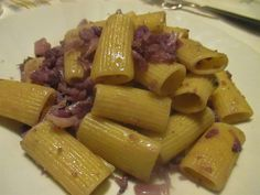 FORNELLI IN FIAMME: MACCHERONI WITH SAFFRON, BACON AND LEEK - Macchero...