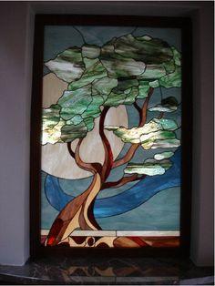 Beautiful stained glass tree art