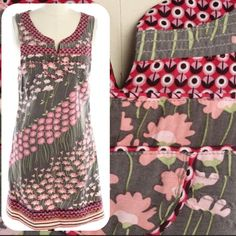 """NEW Free People Dress Adorable Free People dress with Rick rack detailing at neckline and hem. Like new condition - no flaws. 30"""" long. Free People Dresses Mini"""
