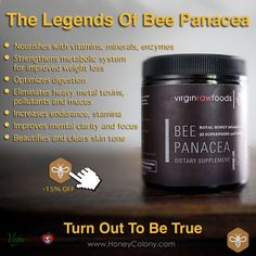 Bee Panacea: perform better, think clearer, get healthier, and avoid toxins.   Learn more about this amazing superfood: http://www.honeycolony.com/simply-transformative/bee-panacea/  #panacea #honeycolony #superfood