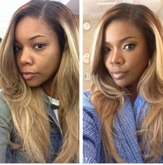 Cute blonde weave. See what the make up did for Gabrielle Union.