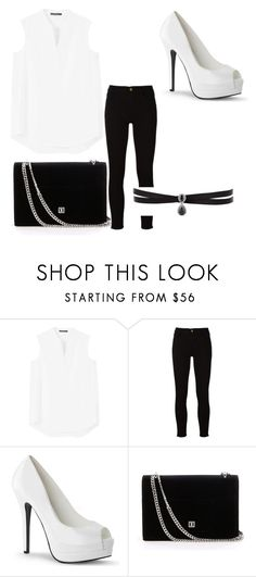 """""""white"""" by magy999 on Polyvore featuring MANGO, Frame and Fallon"""