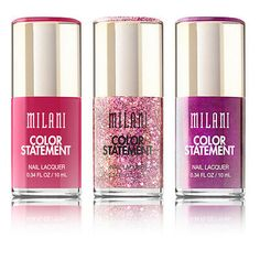 Milani Fierce Foil & Color Statement Nail Lacquer Polish Variety - Pick A Shade Zoya Nail Polish, Gel Nail Art, Nail Polish Colors, Nails, Nail Nail, Black And White Nail Designs, Statement Nail, Makeup Sale, Lip Stain