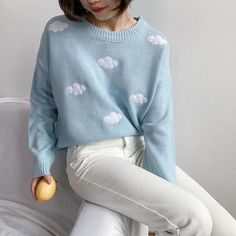 Aesthetic Fashion, Look Fashion, Aesthetic Clothes, Aesthetic Sweaters, Street Fashion, Cute Fashion Style, Blue Aesthetic, Fashion Women, Aesthetic Clothing Stores
