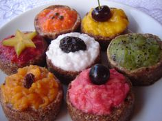 cupcakes veganos de frutas