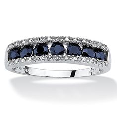 1.05 TCW Round Genuine Blue Sapphire and Diamond Accent 10k White Gold Ring Lux http://www.amazon.com/dp/B00P6OVB4Y/ref=cm_sw_r_pi_dp_uLd1ub1MJSSNK