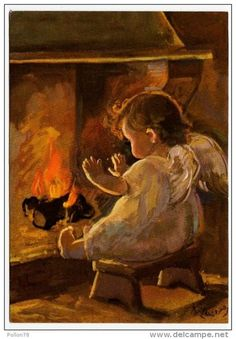 Pictures To Paint, Cute Pictures, I Believe In Angels, Angel Pictures, Angels Among Us, Guardian Angels, Arte Pop, Angel Art, Vintage Christmas Cards