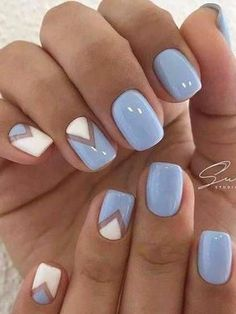 Best Spring Nails 24 Best Spring Nails for 2018 Hashtag Nail Art - cute nails ideas - Nail Designs Spring, Cute Nail Designs, Acrylic Nail Designs, Light Blue Nail Designs, Acrylic Nails, Acrylic Spring Nails, Blue Shellac Nails, Diy Nails, Cute Nails