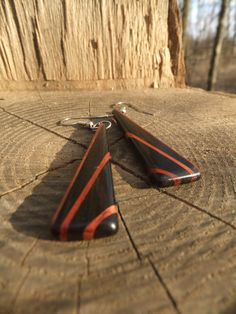 by 1337motif of indianapolis: Deco Inspired Earrings - Ebony and Bloodwood http://craftysupermarket.wordpress.com/2013-holiday-crafters/
