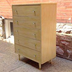 #MidCenturyModern #Blonde #Gold #Limed #Patina Upright #Dresser . Info @ link below.