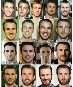 The Evolution of: Chris Evans Aww he was always super adorable ❤ Marvel Dc, Marvel Actors, Capitan America Chris Evans, Chris Evans Captain America, Robert Evans, Chris Evans Beard, Teen Movies, Shia Labeouf, Marvel Jokes