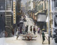 vintage everyday: Street Scene in Hong Kong, 1895