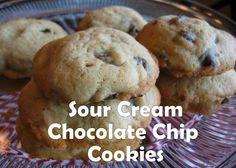 Sour Cream Chocolate Chip Cookies!