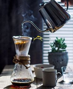 """Absolutely stunning Chemex ft. Drip fabric filter! // For more coffee inspirations from Japan visit www.kurasu.me"