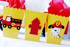Firetruck Party Decorations by http://pinwheellane.etsy.com