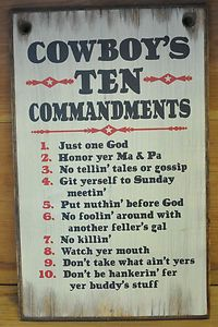 . Ten Commandments Western Rustic Vintage Wood Sign Home Decor | eBay