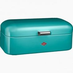 Stylish breadbin from Kitchenscookshop.....Wesco Grandy Bread Bin - turquoise | Kitchens - Cookware specialists for over 40 years