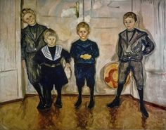 Edvard Munch (Norwegian, 1863-1944) - The four sons of Dr. Max Linde, 1903