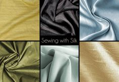 Great reference for sewing with silk! Needle, thread and sewing technique suggestions!
