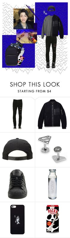 """† W.Nizer - In the bowling with Hyunkyo †"" by ulzz-nara ❤ liked on Polyvore featuring Giorgio Brato, Gant Rugger, Cufflinks, Inc., adidas, GET LOST, October's Very Own, Haerfest, men's fashion and menswear"