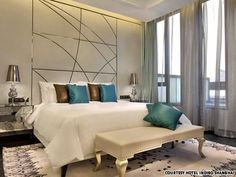A suite room at Hotel Indigo Shanghai on the Bund