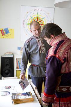 Saamelaismiehet Veikko Feodoroff ja Klemetti Näkkäläjärvi