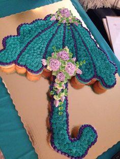 Bridal shower pull apart cupcakes! #publix