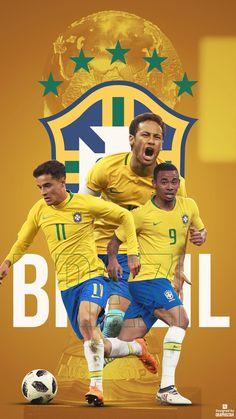 Brasil Brazil Football Team, Brazil Team, Neymar Brazil, Football Is Life, Russia World Cup, Brazil World Cup, Ronaldinho Wallpapers, Soccer World Cup 2018, Go Brazil