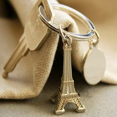 Eiffel Tower Keychain for Sweet Sixteen Favors & Wedding Gifts