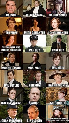 A guide to the characters of downton abbey