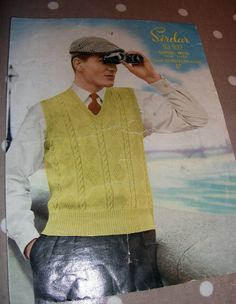 Vintage 1950s Sirdar Mans Pullover Knitting pattern by mish73, £1.70