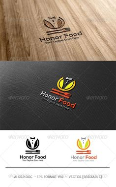 Honor Food Logo — Vector EPS #occasion #good food • Available here → https://graphicriver.net/item/honor-food-logo/6031569?ref=pxcr